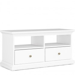 Marlow TV Unit - 2 Shelves 2 Drawers - White