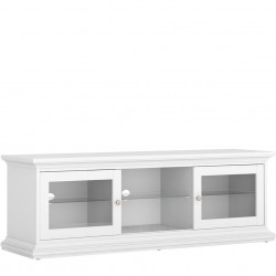 Marlow TV Unit - Two Doors & Shelf - White