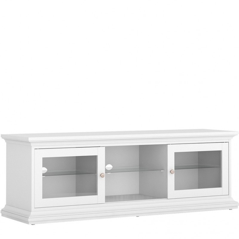 An image of Marlow TV Unit - Two Doors & Shelf - White