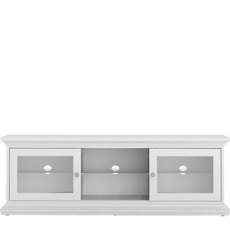 Marlow TV Unit - Two Doors & Shelf - White Front View