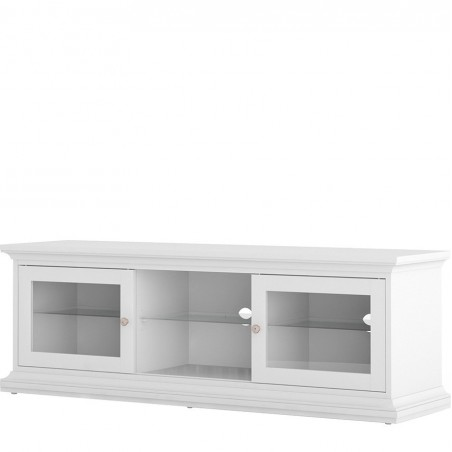 Marlow TV Unit - Two Doors & Shelf - White Angled View