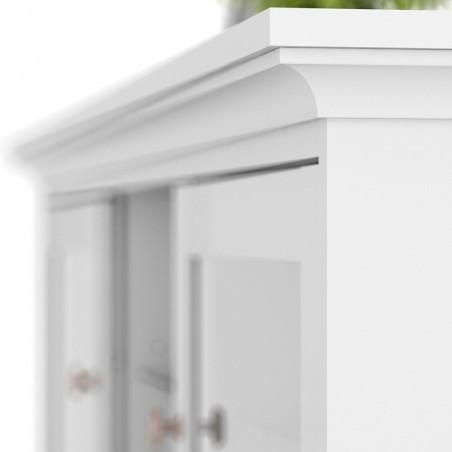 Marlow TV Unit - Two Doors & Shelf - White