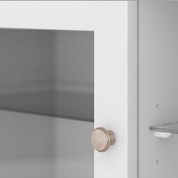 Marlow TV Unit - Two Doors & Shelf - White Door Detail