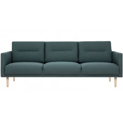 Kempsey 3 Seater Sofa with oak legs in dark green