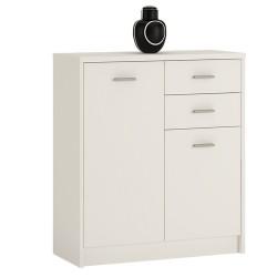 Topina 2 Door 2 Drawer Cupboard - Pearl White