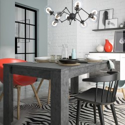 Zingaro Extending  Dining Set With Faux Leather Chairs Mood Shot