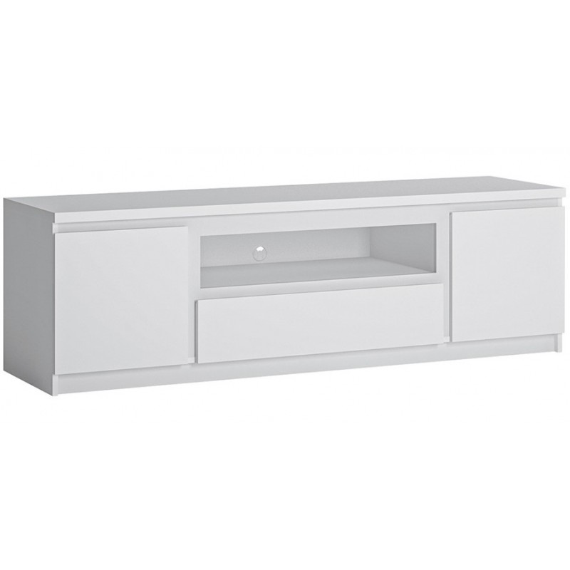 An image of Fribo Wide TV Unit - One Drawer Two Door - Oak