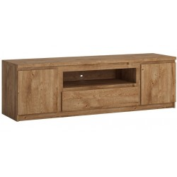 Fribo Wide TV Unit - One Drawer Two Door - Ribbeck Oak