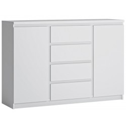 Fribo Two Door Four Drawer Sideboard - White