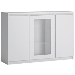 Fribo Three Door (Glazed Centre Door) Sideboard - White