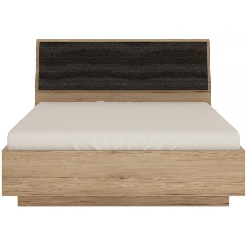 Kensington Oak Finish Ottoman Bed - Double