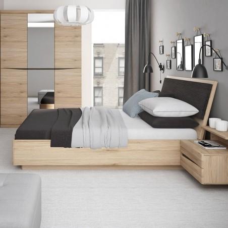 Kensington Oak Finish Ottoman Bed mood Shot Closed