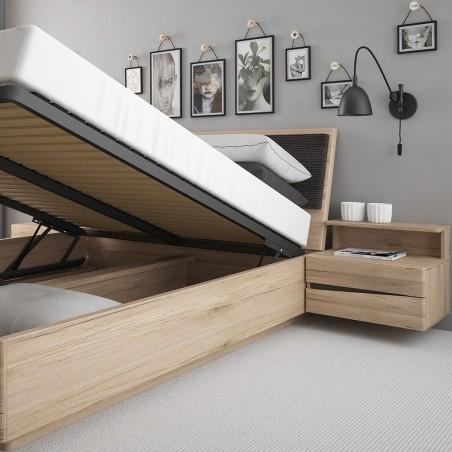 Kensington Oak Finish Ottoman Bed mood Shot Open