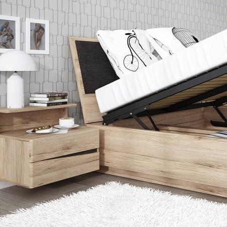 Kensington Oak Finish Ottoman Bed room Shot