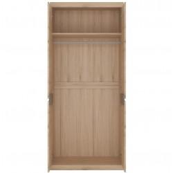 Kensington Tall Wide Two Door Wardrobe Open