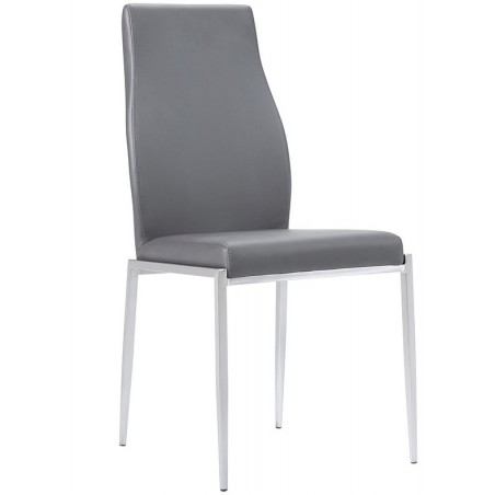 Grey Faux Leather Chair