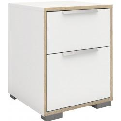 Arnum Two Drawer Bedside Cabinet