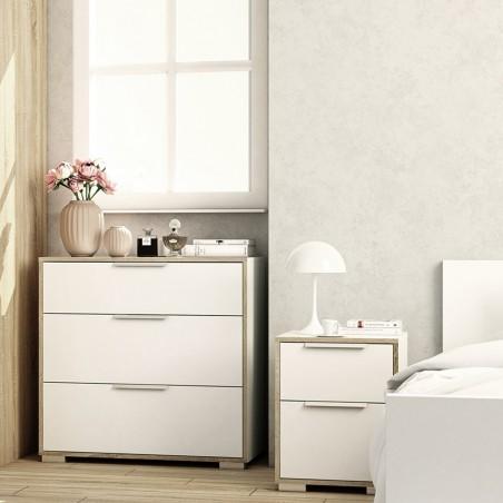 Arnum Two Drawer Bedside Cabinet Room Shot