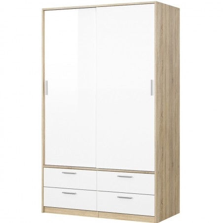 Arnum Two Door Four Drawer Wardrobe Angled View