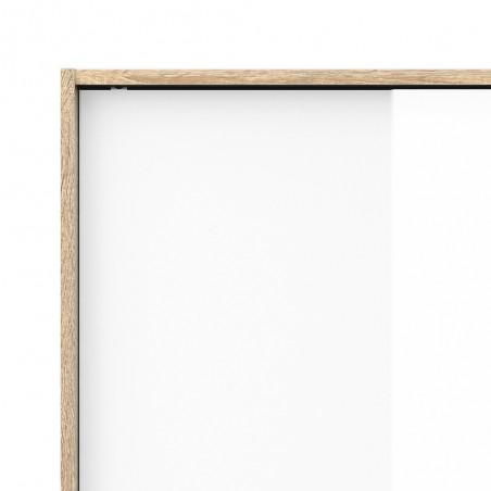 Arnum Three Door Six Drawer Wardrobe Top Corner Detail