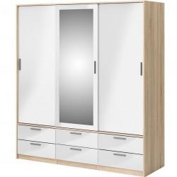 Arnum Three Door Six Drawer Wardrobe Angled View