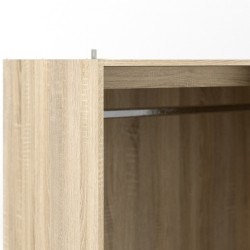 Arnum Three Door Six Drawer Wardrobe Top Corner Detail Open