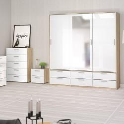Arnum Three Door Six Drawer Wardrobe Room shot