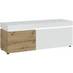 Luci  TV 150cm Unit - Two Drawer One Door  - White & Oak