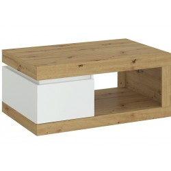 Luci One Drawer Coffee Table - Oak White