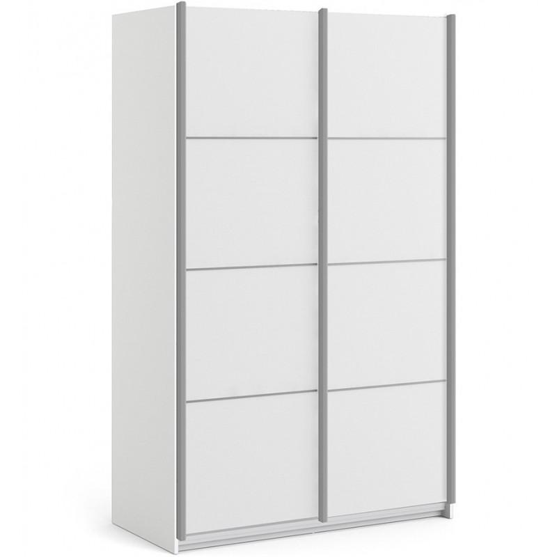 Verona Sliding Wardrobe 120cm - White