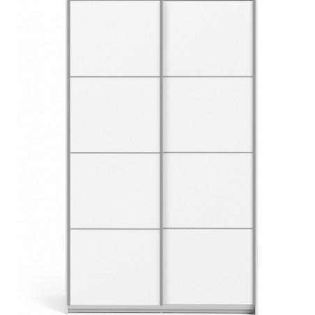 Verona Sliding Wardrobe 120cm - White Front View