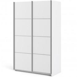 Verona Sliding Wardrobe 120cm - White Angled View