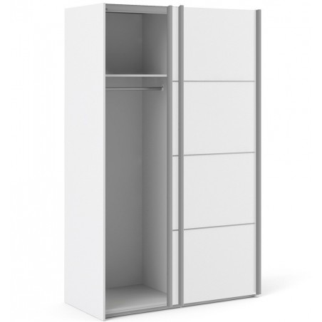 Verona Sliding Wardrobe 120cm - White One side open