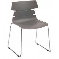 fabulo chair with a grey seat and sled frame