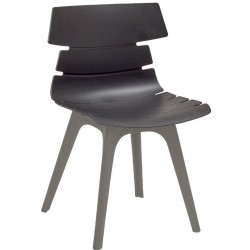 Fabulo chair with a Black shell and Grey legs