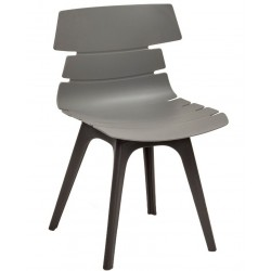 Fabulo chair with a grey seat and black legs