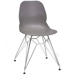 Sligo dining chair with a grey seat and Eiffel leg frame