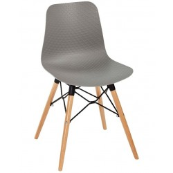 Galway chair with a grey seat and beech legs