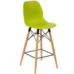 sligo high bar stool lime green with beech frame