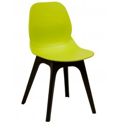 Sligo chair with lime green shell and black legs