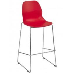 red metal-framed 76cm bar stool