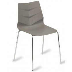 Wave designer dining chair with a Grey seat