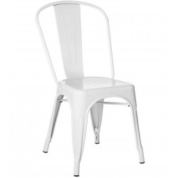 Tolix  Metal Side Chair - White