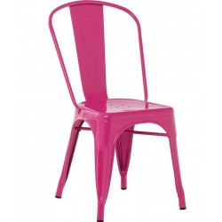 Tolix  Metal Side Chair - Magenta
