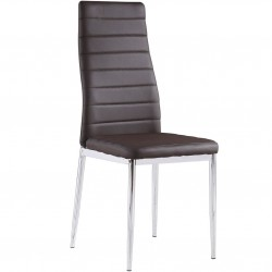 Monica  Designer Dining Chair - Brown