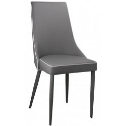 Jasmine Grey PU dining chair
