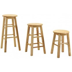 Rubberwood Round Stools