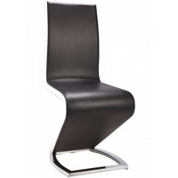 Paris PU Chrome Chairs Black & White Dining Chair