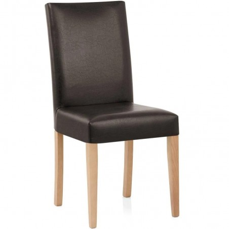 Ashford Faux Leather Dining Chairs - Brown