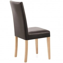 Ashford Faux Leather Dining Chairs - Brown Rear View